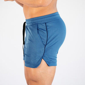 Sporty Fitness Pure Colour Mesh Shorts