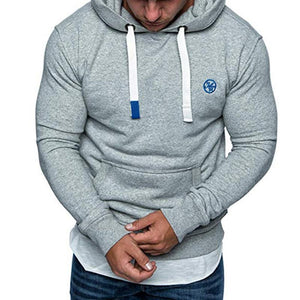 Men's Solid Color Hooded Sweater Sports Hoodies