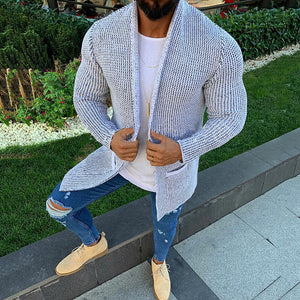 Casual Pure Colour Pocket Knit Cardigan