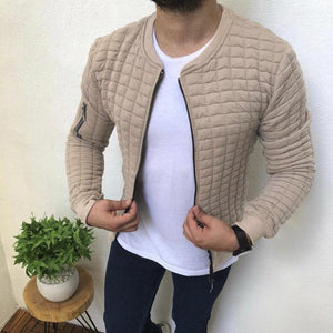 Casual Slim Solid Color Sports Jacket Men's Jacket