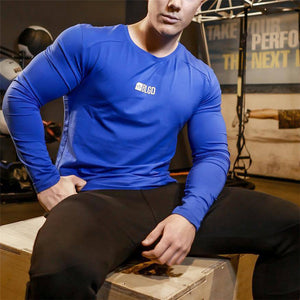Men's Sports Elastic Long Sleeve T-Shirt