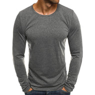 New Men's Solid Color Base Men T-Shirt