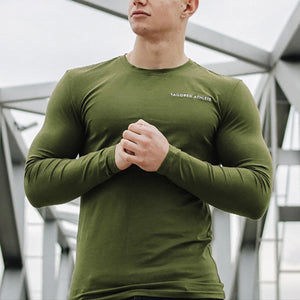 Mens Sports Long Sleeve Slim Shirt