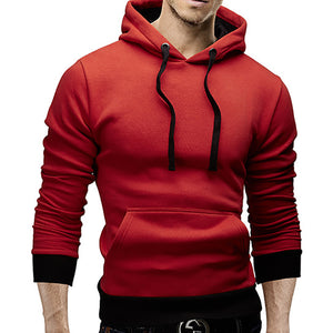 Simple Pure Colour Hooded Sweatshirt