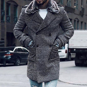 Fashion Knit Warm Mens Coat