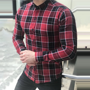 Men's Hot Plaid Cardigan Men's Shirt