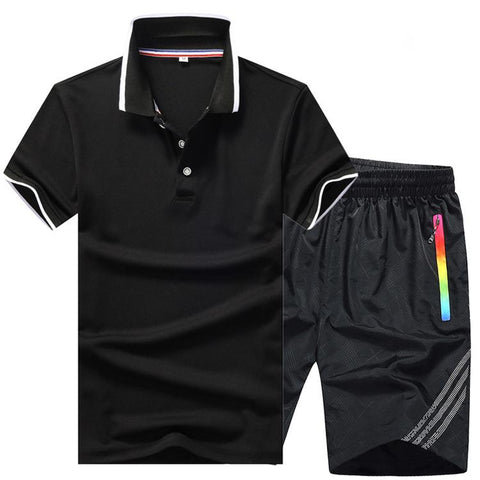 New Men's Summer Shorts Sports And Leisure Two-Piece Short-Sleeved Suit