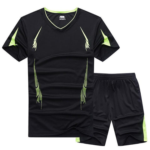 Men's Fitness Quick-Drying Breathable  Casual Two-Piece Set