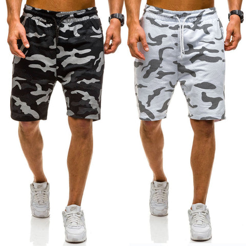 2019 Camouflage Printed Slim Drawstring Short Pants