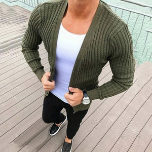 Men's Jacquard Button Cardigan Sweater