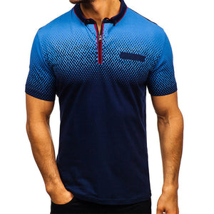 Men's Short Sleeve Zip T-Shirt