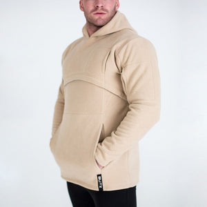 Mens Casual Hooded And Velvet Padded Sweater