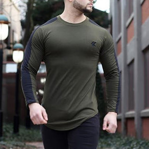Casual Mens Sports And Leisure T-Shirt Long Sleeve Breathable Thin