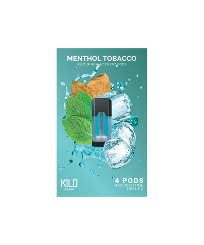 Kilo 1K Replacement Pods - (4 Pack) Menthol Tobacco