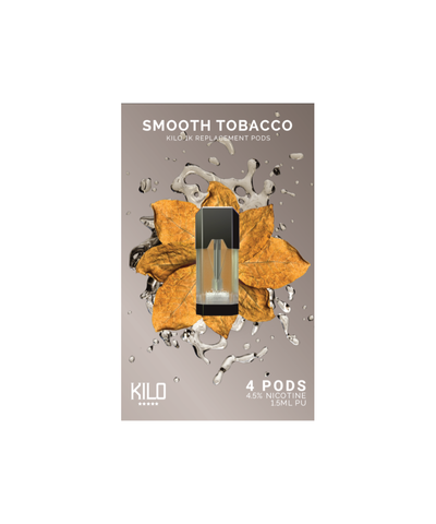 Kilo 1K Replacement Pods - (4 Pack) Smooth Tobacco