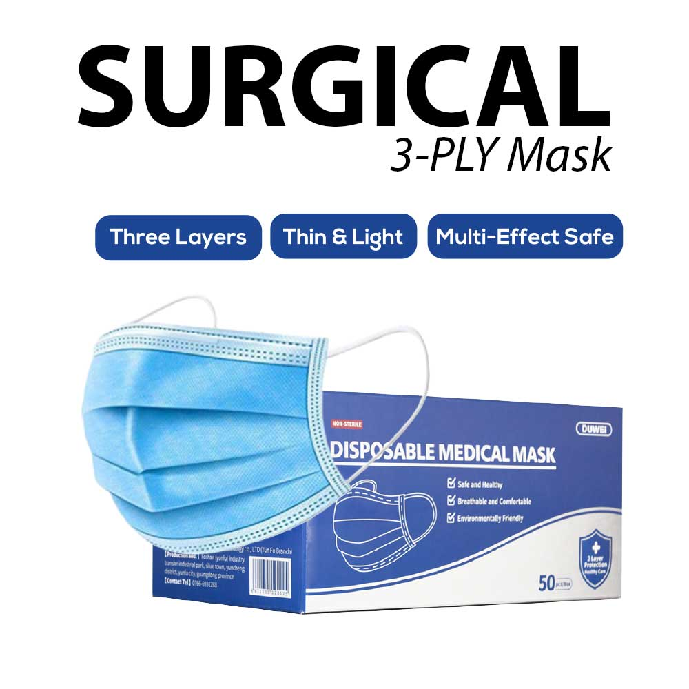 Disposable 3 ply Face Mask 50 pieces