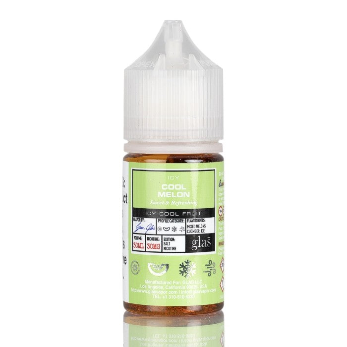 BASIX SALTS SERIES - ICY COOL MELON BY GLAS VAPOR E-LIQUID - 30ML