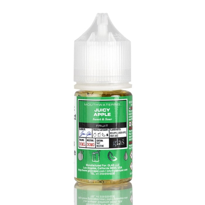 BASIX SALTS SERIES - JUICY APPLE BY GLAS VAPOR E-LIQUID - 30ML