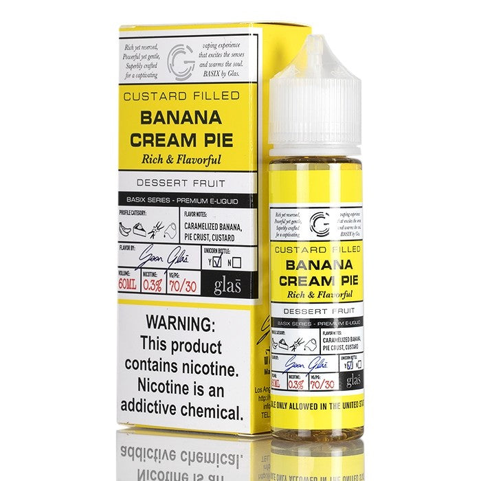 BASIX SERIES - BANANA CREAM PIE BY GLAS VAPOR E-LIQUID - 60ML