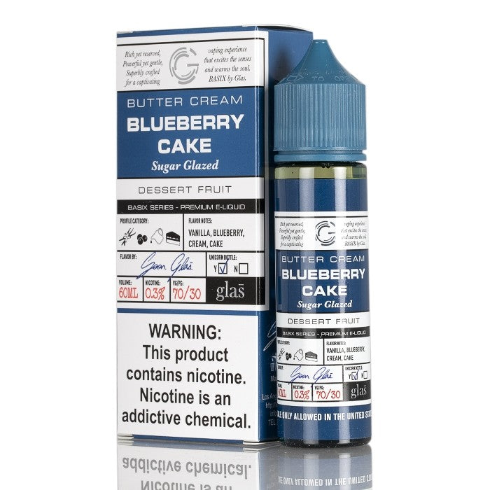 BASIX SERIES - BLUEBERRY CAKE BY GLAS E-LIQUID - 60ML