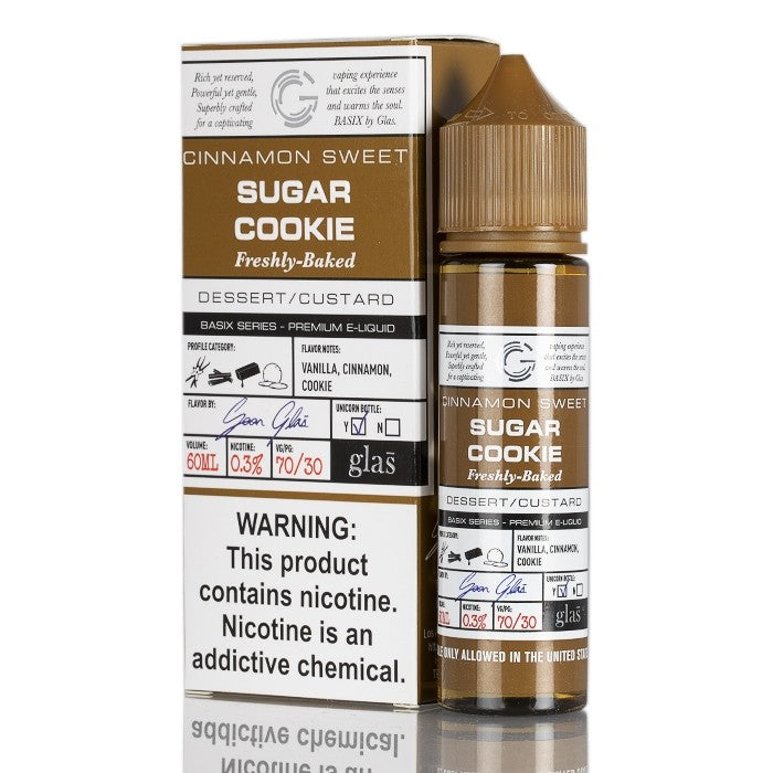 BASIX SERIES - SUGAR COOKIES BY GLAS E-LIQUID - 60ML