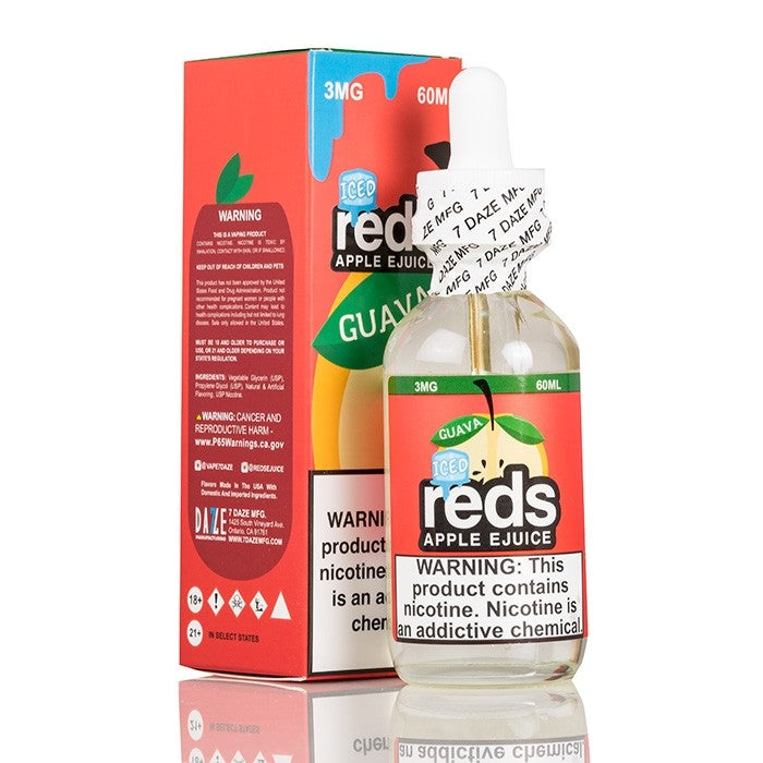 RED'S GUAVA APPLE ICED E-JUICE - 7 DAZE - 60ML