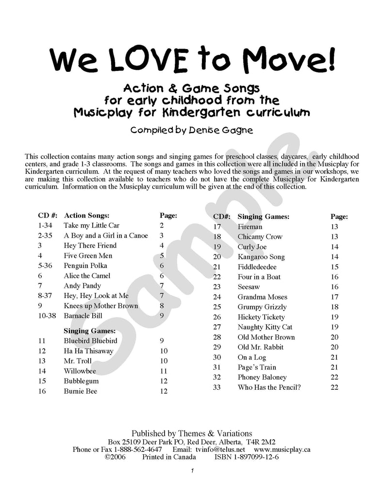 We Love to Move!