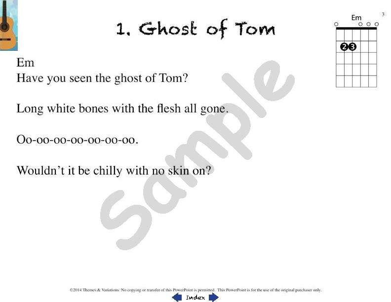 Easy Guitar Songs Teachers Guide Themes And Variations Usa