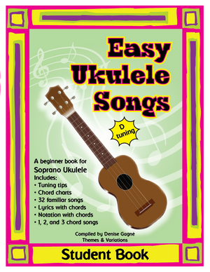 Easy Ukulele Songs in D Student Book - Minimum Order of 5 | Themes