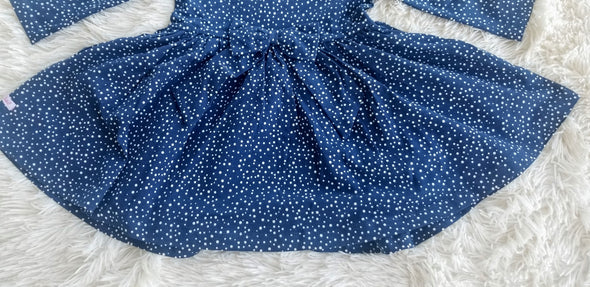 Navy Dots Twirl Dress