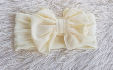 Ivory Big Bow Headband