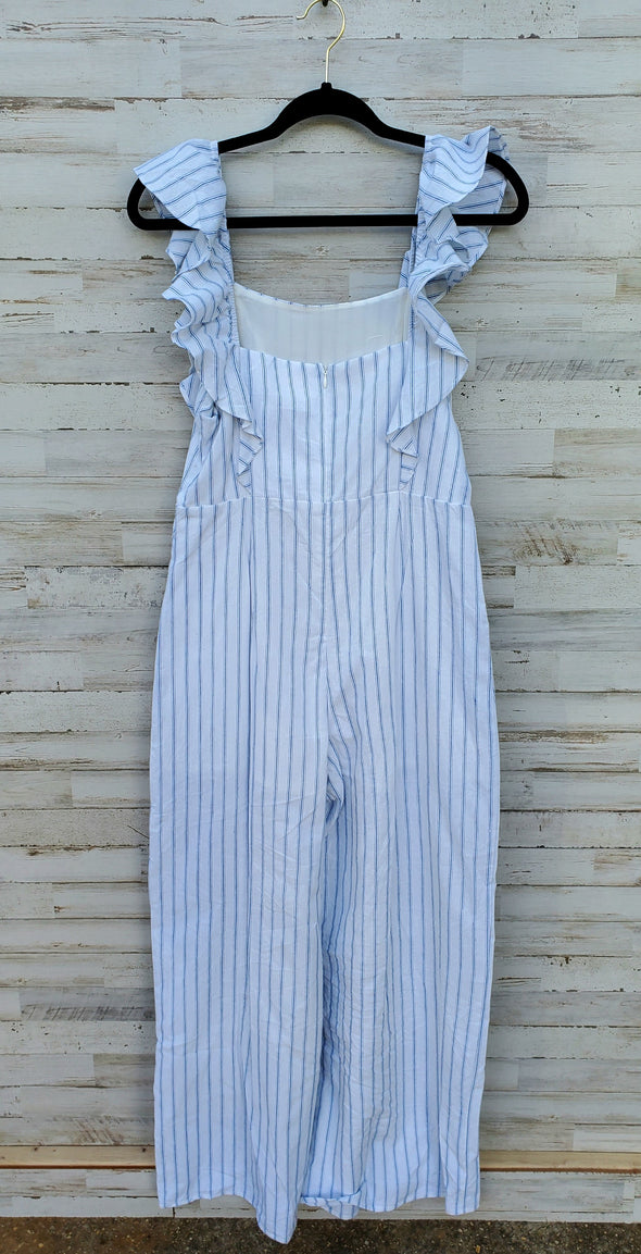Spring Dream Stripped Ruffle Jumpsuit