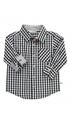 Black & White Gingham Button Down Shirt