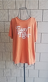 Easy Tiger Burnt Orange and Cream Short Sleeve Shirt
