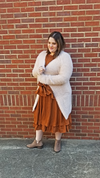 Furry Soft Cream Cardigan