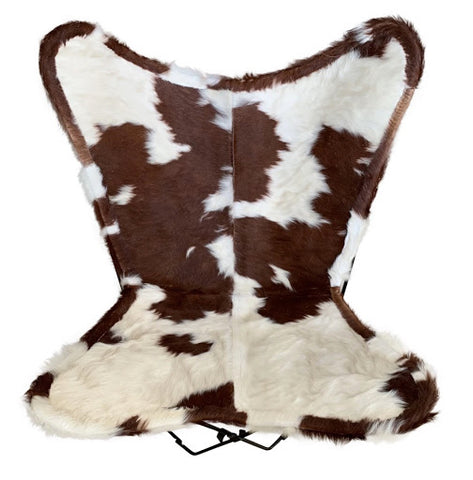 brown-white-curly-cowhide-butterfly-chair-cowhide-furniture-australia