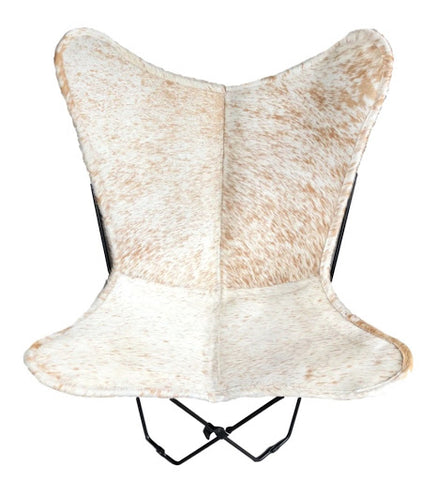 white-brown-speckle-cowhide-butterfly-chair-cowhide-furniture-australia
