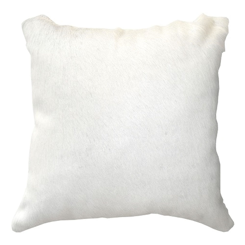 white cowhide cushion
