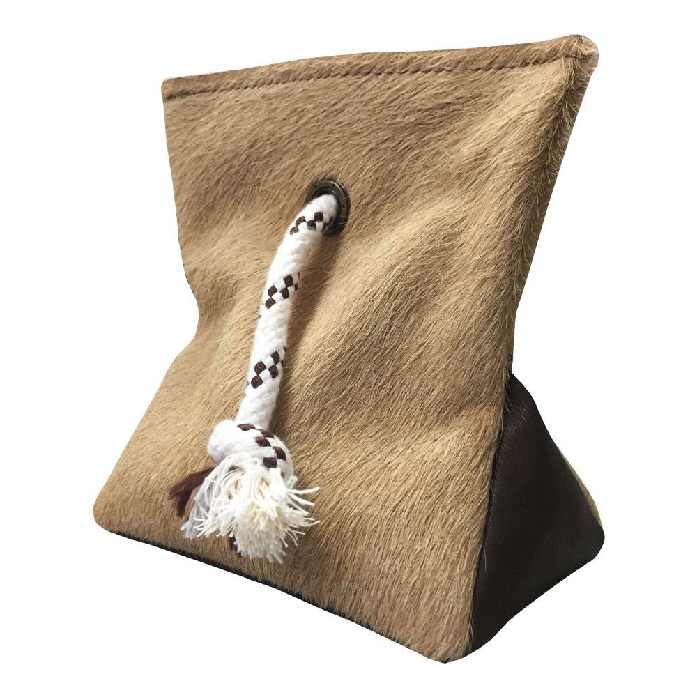 | BEIGE COWHIDE DOOR STOPPER |