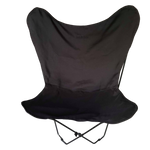 WATERPROOF CANVAS BUTTERFLY CHAIR - BLACK