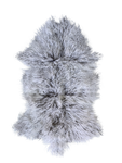 MONGOLIAN SHEEPSKIN | GREY W/ WHITE TIPS - Lux & Hide
