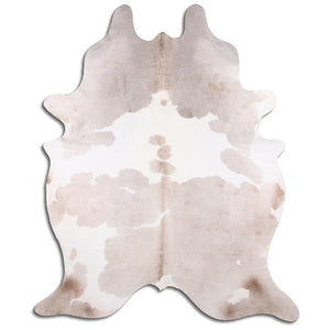 | MILLIE | - LIGHT CHAMPAGNE + WHITE COWHIDE RUG