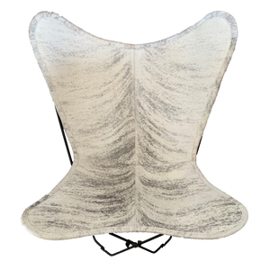 | ASH | - LIGHT BRINDLE COWHIDE BUTTERFLY CHAIR