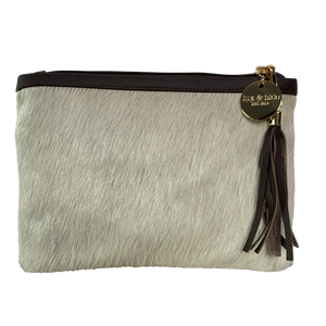 COWHIDE EVERYDAY SMALL CLUTCH - LIGHT CHAMPAGNE. - Lux & Hide