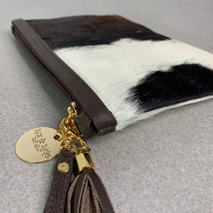 COWHIDE EVERYDAY SMALL CLUTCH - TRICOLOUR.