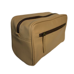LEATHER TOILETRIES BAG - LIGHT TAN