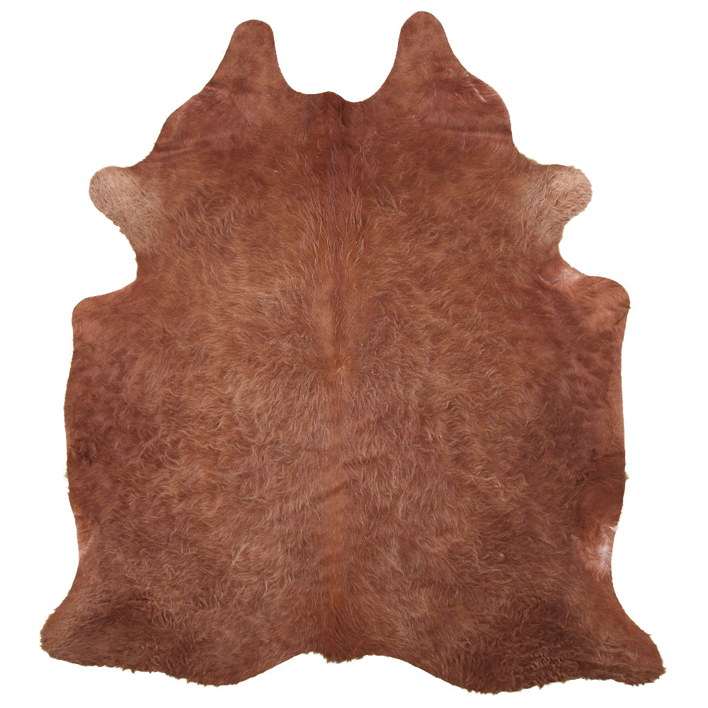 | RYAN | - BROWN COWHIDE RUG.