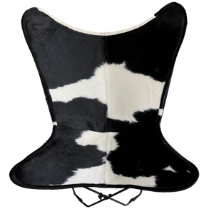 black and white cowhide butterfly chair