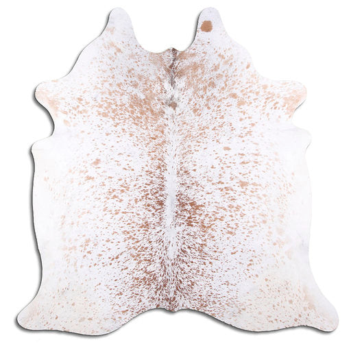 | SARAH | - BROWN + WHITE SPECKLE COWHIDE RUG