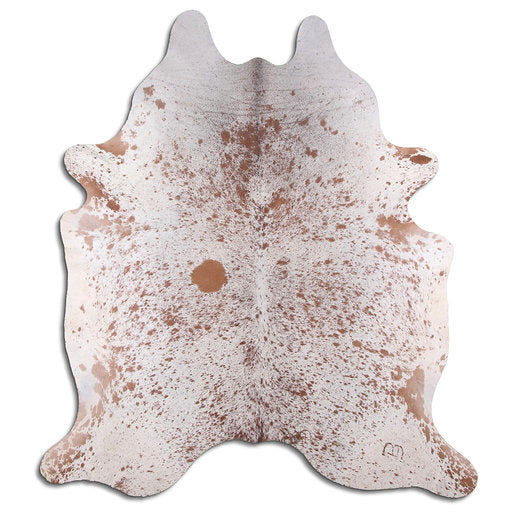 | COBY | - BROWN + WHITE SPECKLE COWHIDE RUG - Lux & Hide